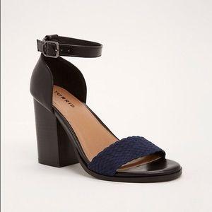 Torrid braided block heel sandals